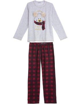 Pijama-Feminino-Lua-Cheia-Calca-Xadrex-Urso-Pompom