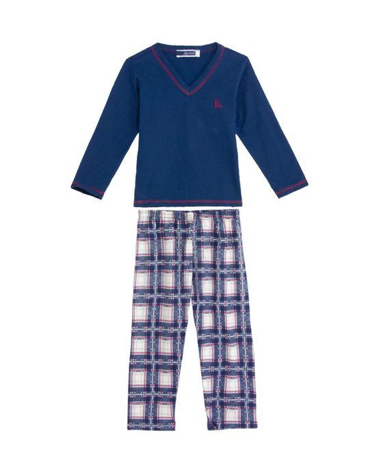 Pijama-Infantil-Masculino-Lua-Cheia-Calca-Xadrez