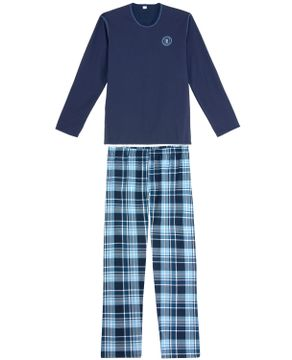 Pijama-Masculino-Recco-Calca-Xadrez-Flanela
