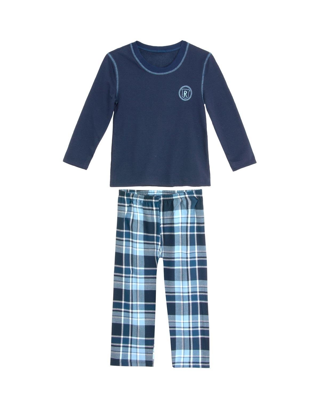 dedba900c Pijama Infantil Masculino Recco Calça Xadrez Flanela - Pijama Online
