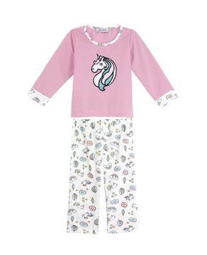 Pijama-Infantil-Feminino-Lua-Cheia-Flanelado-Unicornio