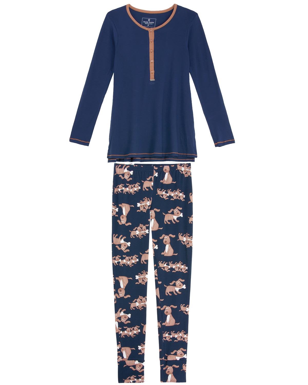 805f41df16ea5b Pijama Feminino Daniela Tombini Viscolycra Cachorro - Pijama Online