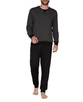 Pijama-Masculino-Laibel-Moletinho-Flanelado-Mescla
