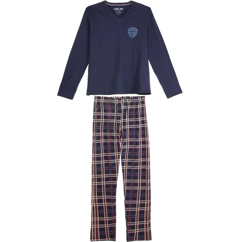 Pijama-Masculino-Laibel-100--Algodao-Calca-Xadrez