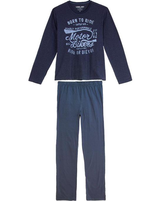 Pijama-Masculino-Laibel-Longo-Algodao-Moto