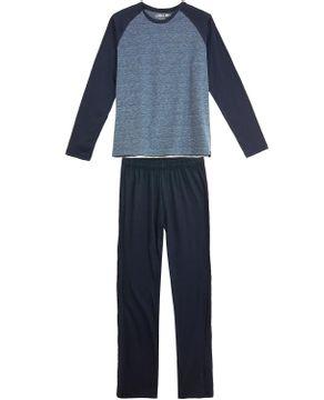 Pijama-Masculino-Laibel-Longo-Algodao-Mescla