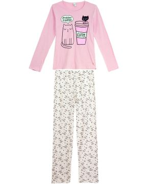 Pijama-Feminino-Laibel-Longo-Algodao-Gato-Cafe