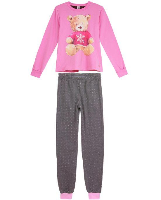 Pijama-Feminino-Laibel-Moletinho-Flanelado-Urso