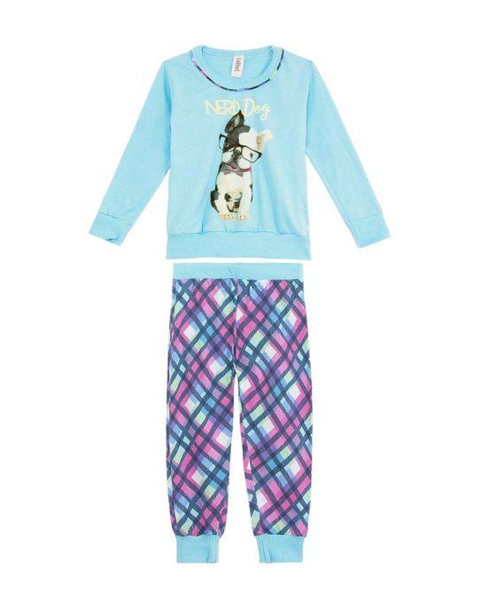 Pijama-Infantil-Feminino-Laibel-Longo-Algodao-Bulldog