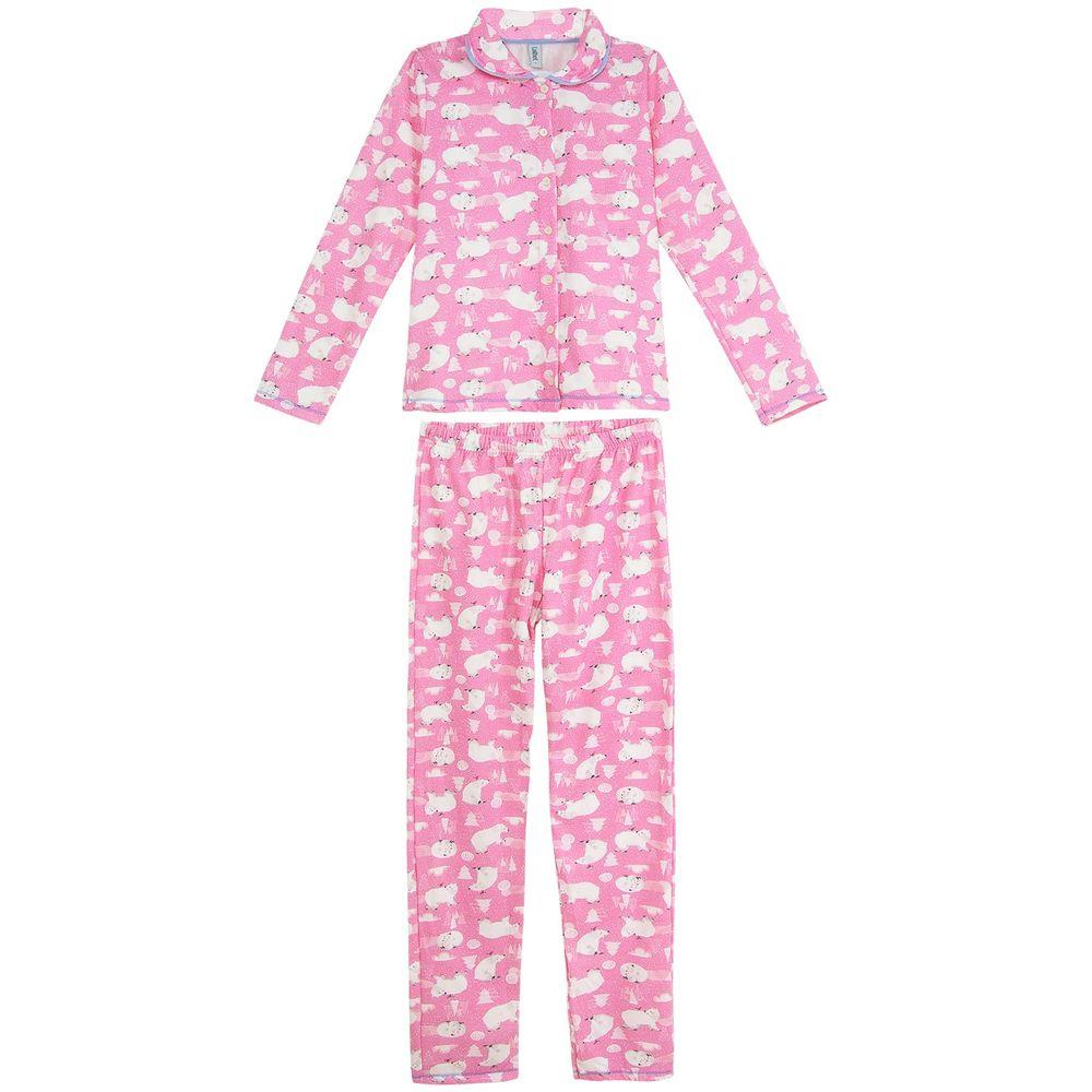 Pijama-Feminino-Laibel-Flanelado-Aberto-Urso-Polar
