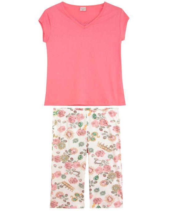 Pijama-Plus-Size-Pescador-Lua-Encantada-Floral