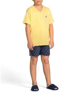 Pijama-Infantil-Masculino-Lua-Encantada-Curto-Raios