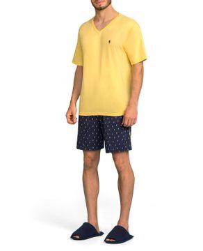 Pijama-Masculino-Lua-Encantada-Curto-Algodao-Raios
