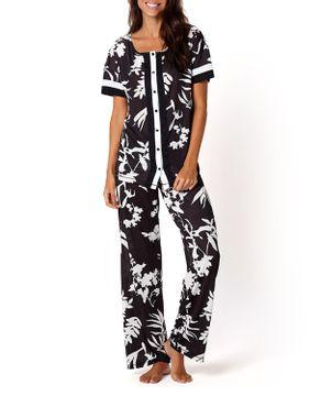 Pijama-Feminino-Joge-Longo-Manga-Curta-Jersey