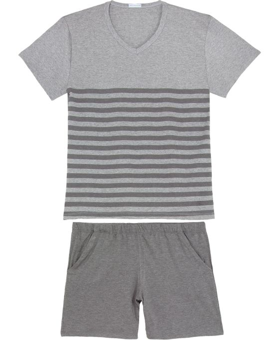 Pijama-Masculino-Homewear-Curto-Viscolycra-Listras