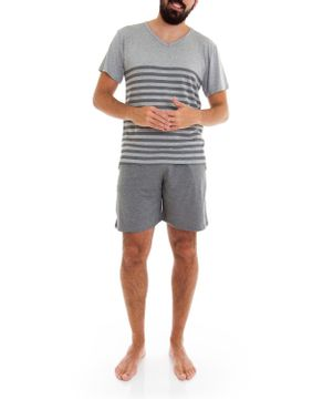 Pijama-Masculino-Homewear-Curto-Viscolycra-Listras