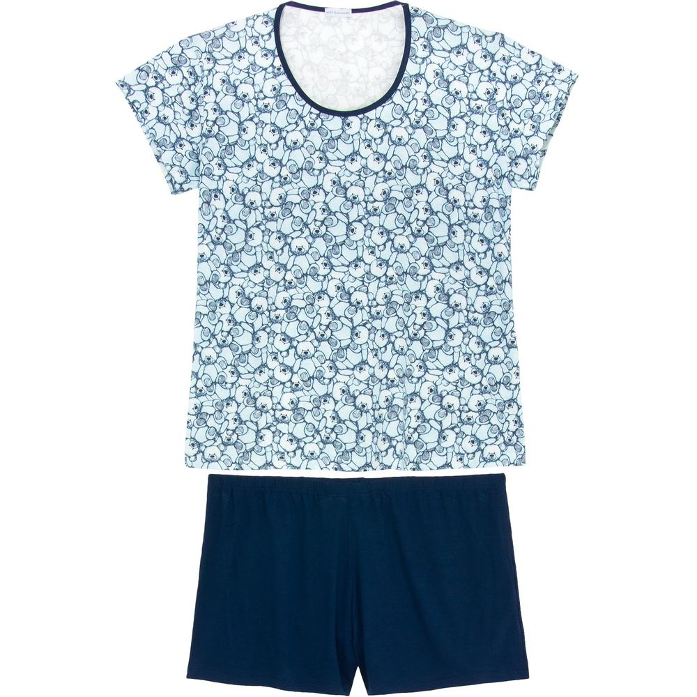 Shortdoll-Plus-Size-Homewear-Viscolycra-Ursos