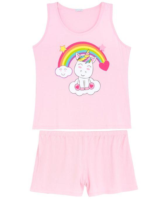 Shortdoll-Plus-Size-Homewear-Viscolycra-Unicornio