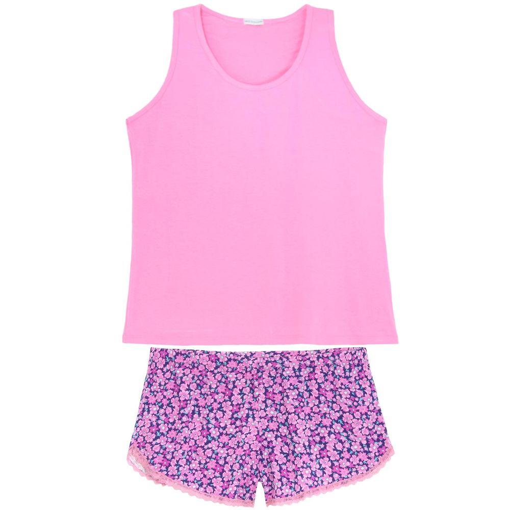 Shortdoll-Plus-Size-Homewear-Viscolycra-Floral