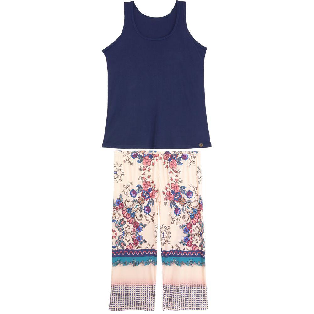 Pijama-Plus-Size-Pescador-Recco-Regata-Microfibra