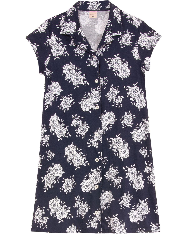 3d3a05f11 Camisola Lua Encantada Aberta Algodão Floral - Pijama Online