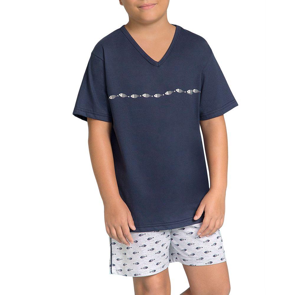 Pijama-Infantil-Masculino-Lua-Encantada-Algodao-Peixes