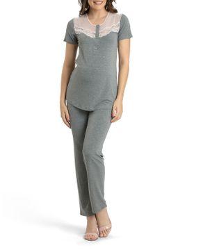 Pijama-Feminino-Recco-Semi-Aberto-Renda-Tule
