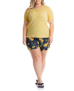 Shortdoll-Plus-Size-Daniela-Tombini-Microfibra-Floral