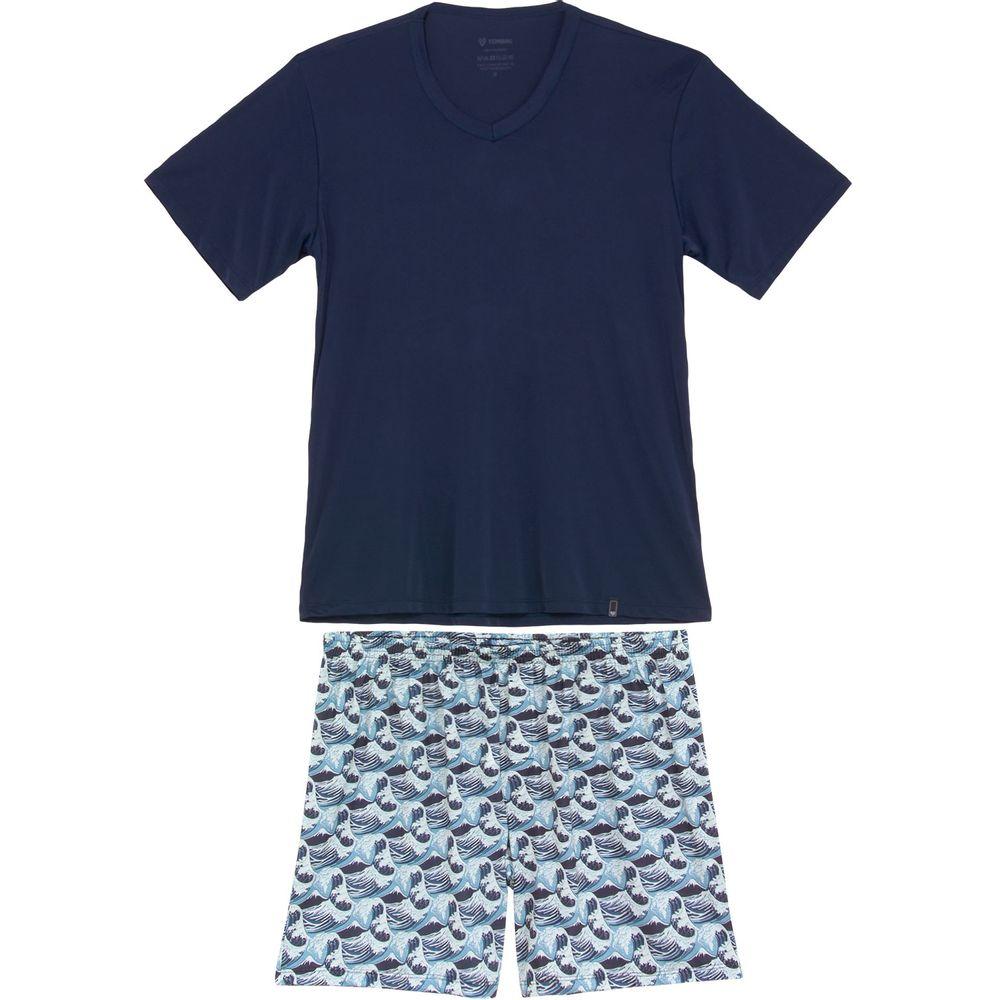 Pijama-Masculino-Tombini-Microfibra-Bermuda-Ondas
