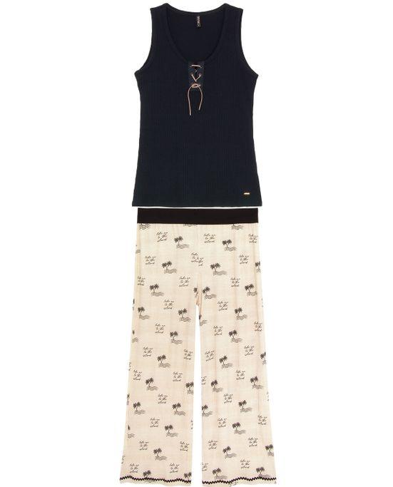 Pijama-Feminino-Lua-Lua-Pantacourt-Vicolycra-Ribana
