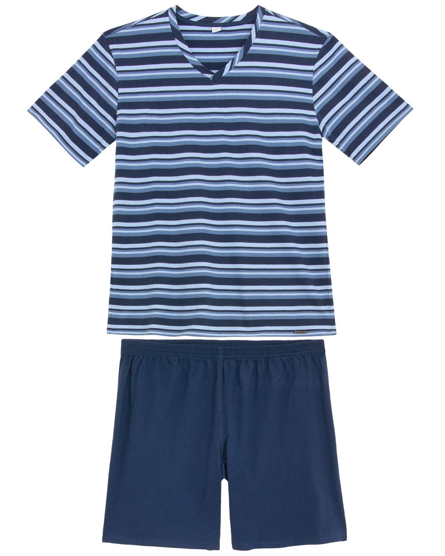 e56e94204068a5 Pijama Masculino Recco 100% Algodão Listras - Pijama Online
