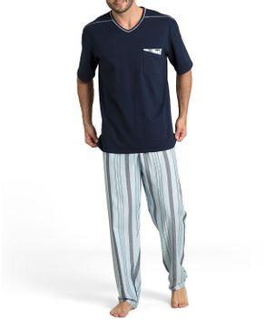 Pijama-Masculino-Recco-Algodao-Calca-Listras