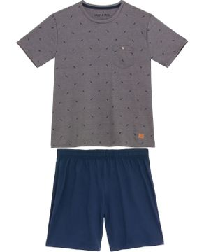 Pijama-Masculino-Laibel-Curto-Algodao-Passarinhos