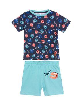 Pijama-Infantil-Masculino-Laibel-Algodao-Monstros
