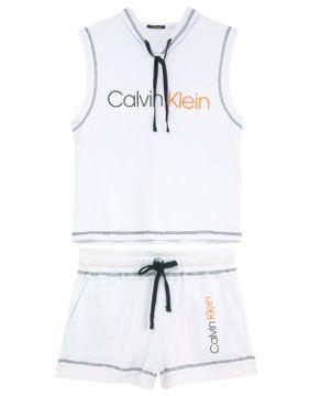 Shortdoll-Calvin-Klein-Regata-Suedine-Capuz
