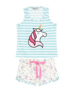 Shortdoll-Infantil-Lua-Cheia-Regata-Unicornio-Listras