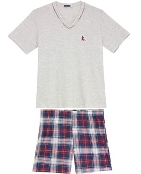 Pijama-Masculino-Lua-Cheia-Algodao-Bermuda-Xadrez