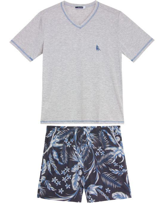Pijama-Masculino-Lua-Cheia-Bermuda-Tropical