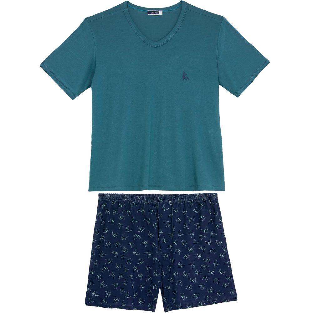 Pijama-Masculino-Lua-Cheia-Viscolycra-Short-Tropical
