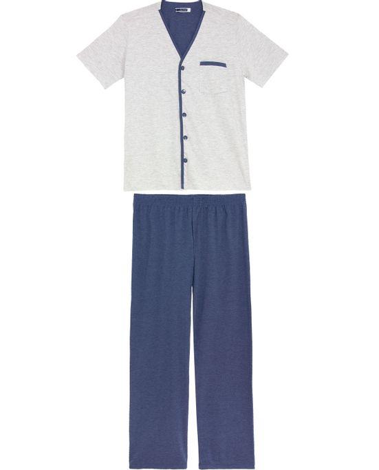 Pijama-Masculino-Lua-Cheia-Aberto-Manga-Curta-Calca