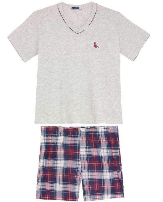 Pijama-Plus-Size-Masculino-Lua-Cheia-Algodao-Xadrez