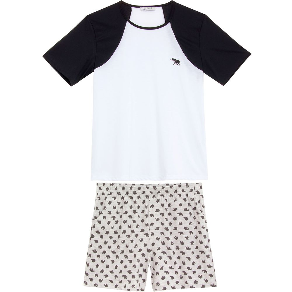 Pijama-Masculino-Lua-Cheia-Raglan-Bermuda-Elefante