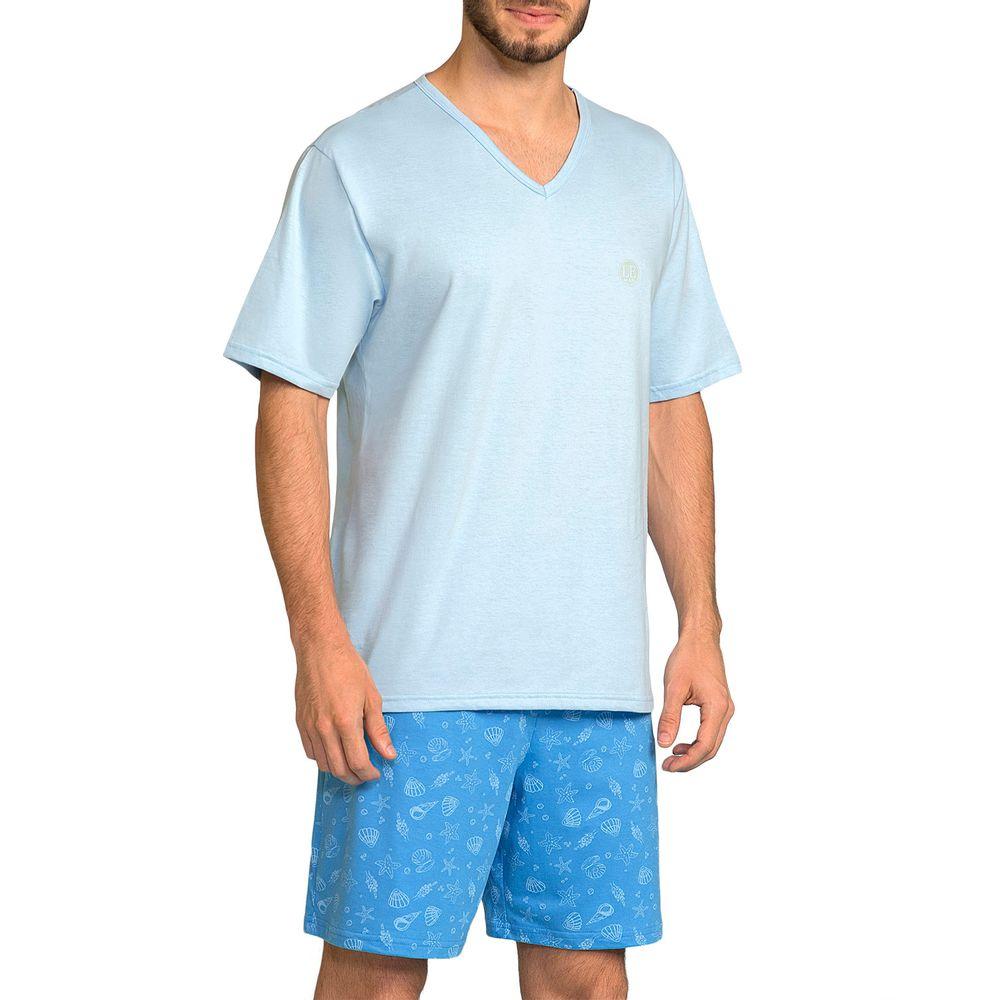 Pijama-Masculino-Lua-Encantada-Algodao-Short-Mar