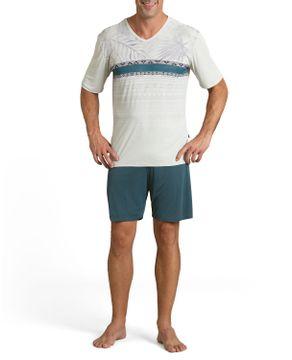 Pijama-Masculino-Recco-Bermuda-Microfibra-Etnico