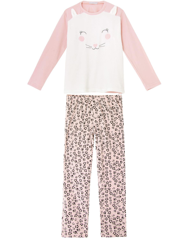 e46675ea142722 Pijama Feminino Daniela Tombini Soft Gato - Pijama Online