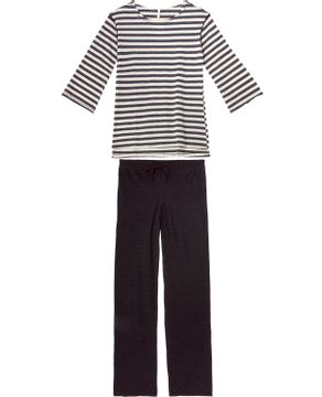 Pijama-Feminino-Joge-Algodao-Longo-Listras-Mescla