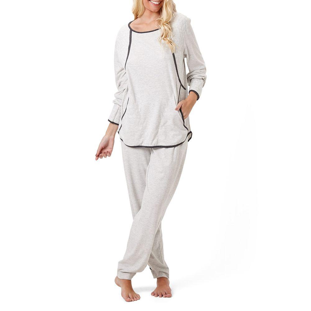 Pijama-Feminino-Joge-Longo-Algodao-Matelasse-Bolso