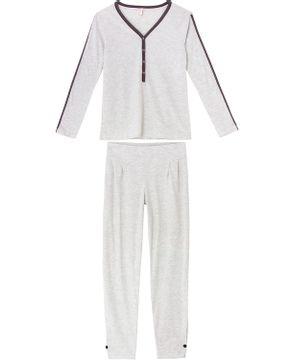 Pijama-Feminino-Joge-Longo-Algodao-Semi-Aberto