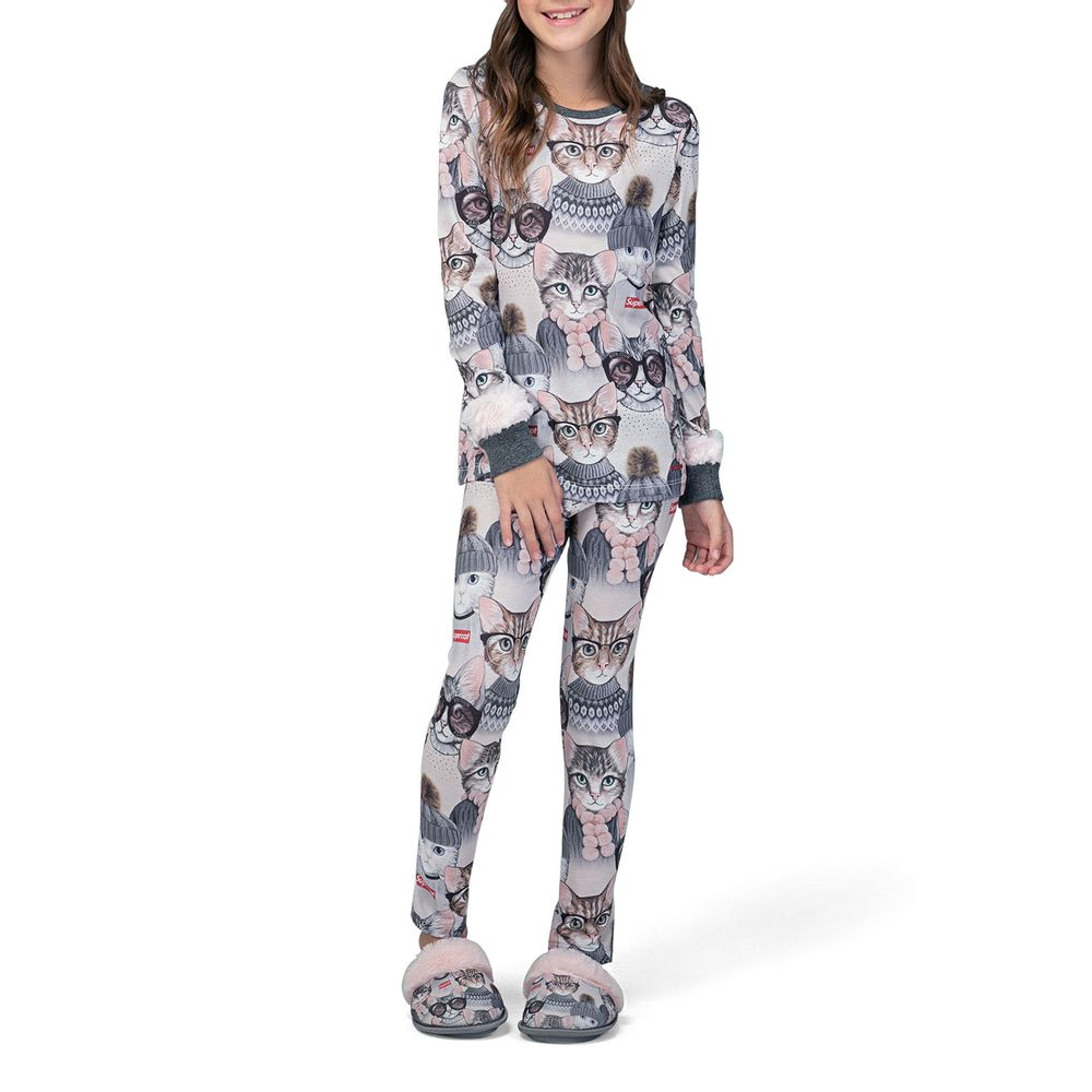 Pijama-Feminino-Lua-Lua-Legging-Viscolycra-Gatos