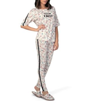 Pijama-Feminino-Lua-Lua-Longo-Manga-Curta-Macarons